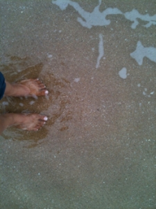 My toes in the Indian Ocean