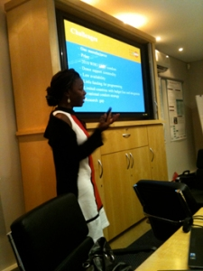 Presentation by Bidia from The United Nations Population Fund