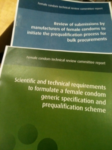 Reports from the Female Condom Technical Review Committee