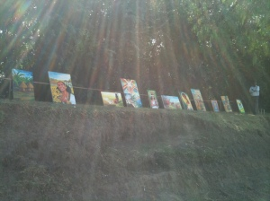 Local art sold on the roadside