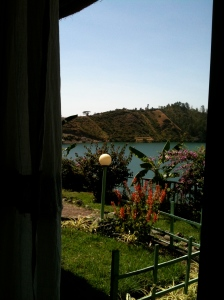 The lake from our doorway