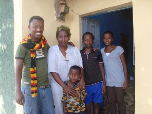 Haile with his family