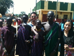 Adrian and me with people from the Omo River Region