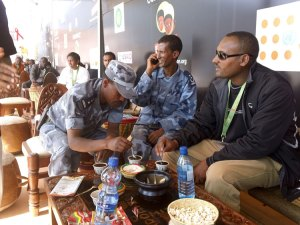 The Ethiopian military taking a coffee break in our Zone
